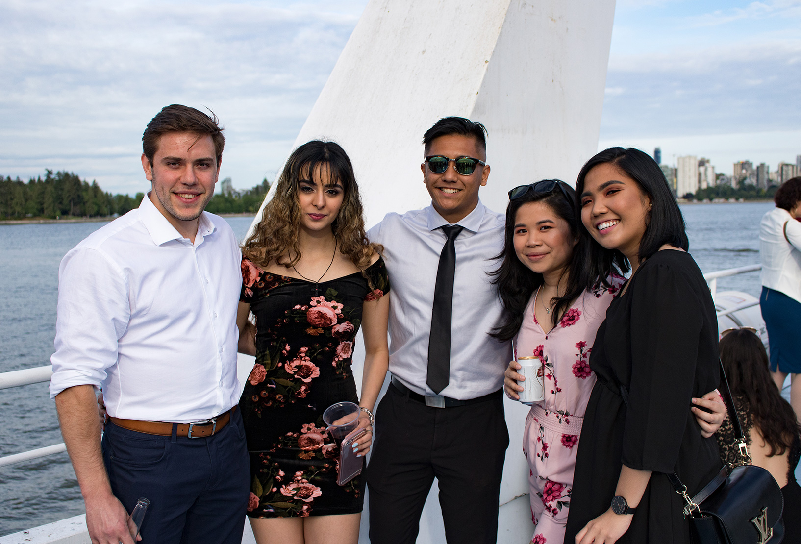 group of students on a boat