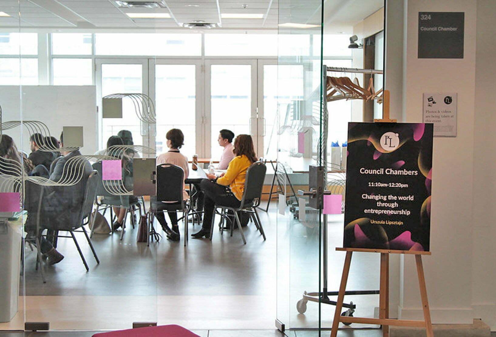 students attending workshop