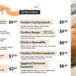 pavilion lunch menu 2021